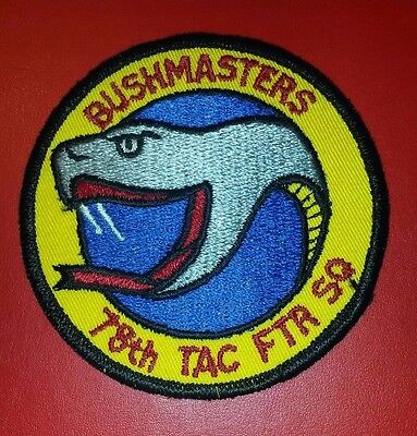"""USAF 78th Tactical Fighter Squadron """"Bushmasters""""  """"RAF Woodbridge"""" Patch"""
