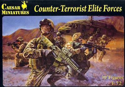Caesar Miniatures Modern Counter-Terrorist Elite Force Soldiers Figuren 1:72 kit