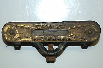 Vintage STANLEY Rule & Level Co # 41 Cast Iron Pocket Level with Brass Top Plate