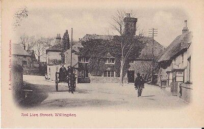 Early Postcard. Red Lion Street. Willingdon. Sussex