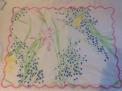 D. Porthault Placemat/ Tea tray cloth and two napkins