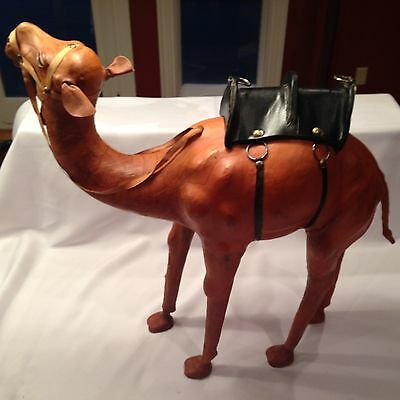 Large Vintage Leather Wrapped  Camel From India