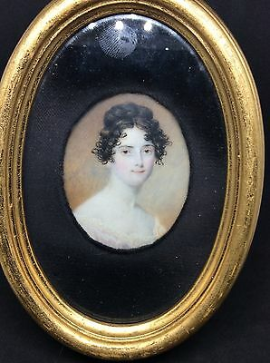 Superb SAMUEL JOHN STUMP portrait Miniature Painting Beautiful Girl c1810