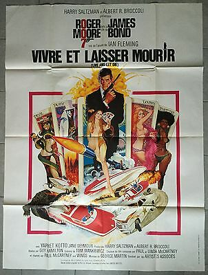 Affiche VIVRE ET LAISSER MOURIR Live and Let Die JAMES BOND Roger Moore 120x160