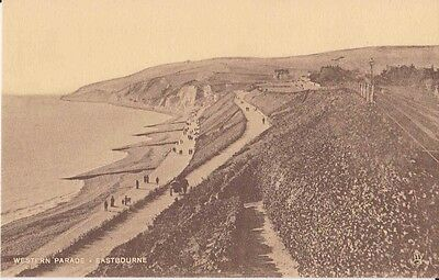 Early Postcard. Western Parade. Eastbourne. Tuck's