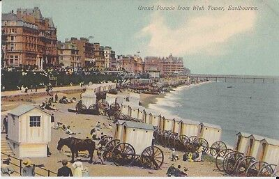 Early Postcard. Grand Parade from Wish Tower, Eastbourne.