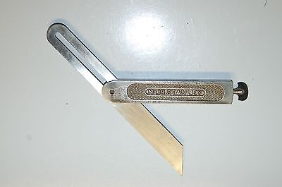 "Excellent STANLEY Rule & Level Co # 18 Sliding Eureka Flush T Bevel  8"" Square"