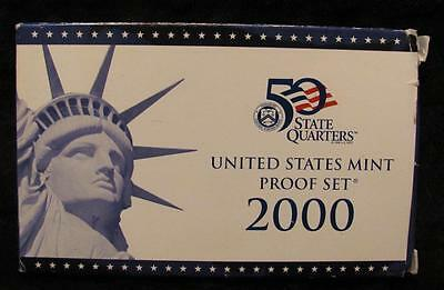 2000S US Mint 10 Coin Proof Set. 5 State Quarters Ultra Cameos.        # MF