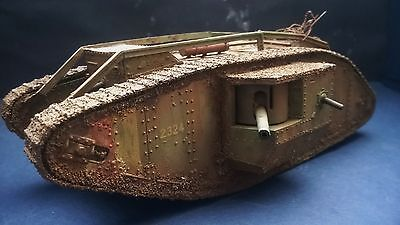 1 35 Built and painted  British WW1 mk IV tank model