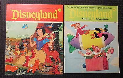 1972/73 DISNEYLAND Magazine #10 83 FN+/FVF LOT of 2 Snow White Cover