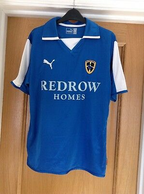 Blue Redrow Bluebirds Cardiff City Football Shirt Puma Size Small ( Old Style )