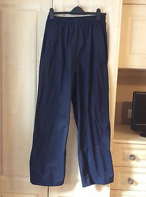 Mens Waterproof Trousers Size Medium Colour Blue New