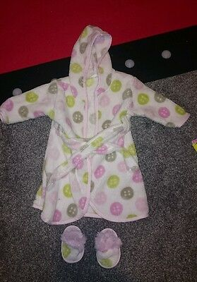 Beansprout Dressing Gown And Slipper Set