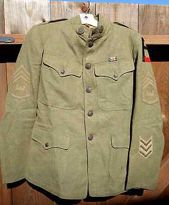 WW1 Uniform Jacket, Army Corps of Engineers Patches