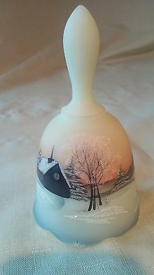 Fenton Glass Christmas Collection Limited Edition Hand Painted Bell