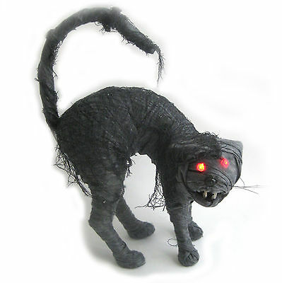 """Zombie Cat Undead Mummy LED Lighted Scary Halloween Party Decoration 17"""""""
