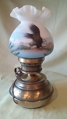 Fenton Glass Hand Painted Limited Edition Lamp
