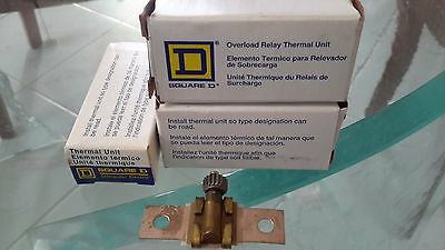 THREE Square D Overload Relay Thermal Units for Electrical Starter NOS