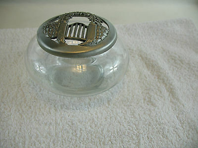 Seagull Pewter lid and glass jar 1990
