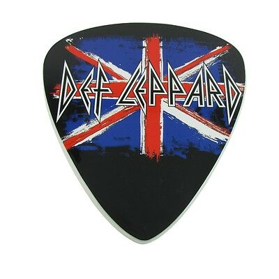 Officially Licensed Def Leppard Album Cover/Logo Guitar Pick Sign 3D Wall Art