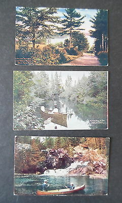 Lot 3 1900s Canada Grand Trunk RR View Postcards Muskoka Temegami Lake of Bays