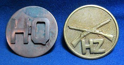 WWI Era Army Infantry HZ Howitzer and HQ Headquarters Company Enlisted Discs