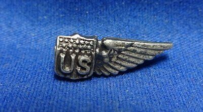 WWI Sterling Army Air Service Dirigible Pilot Wings Home Front Sweetheart Pin