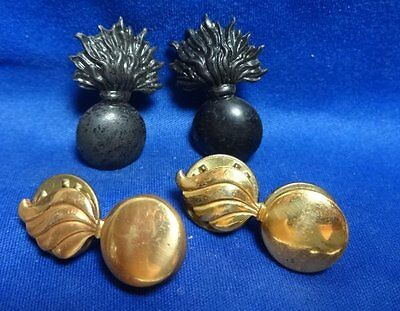 WWI French and US Made Army Ordinance Officer Insignia Sets Lot Of 4