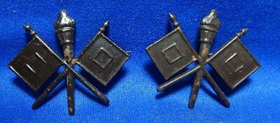 WWI French Made Army Signal Corps Officer Insignia Set