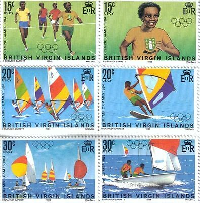 British Virgin Islands 1984 Olympic Games MNH