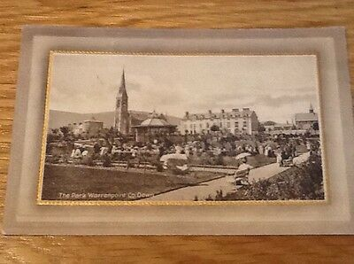 Old Postcard Of The Park Warrenpoint Co.down