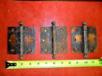 "Set of 3- 3 1/2"" by 3 1/2"" Vintage Door Hinges"