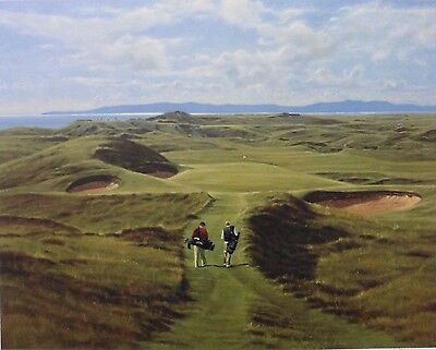 """Rosenstiel's signed Artist Proof golf print """"Royal Troon 8th"""" by Peter Munro"""