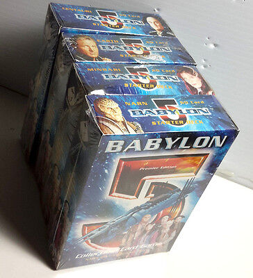 Babylon 5 Collectible Card Game Boxed Starter Decks- All 4 Races- SEALED