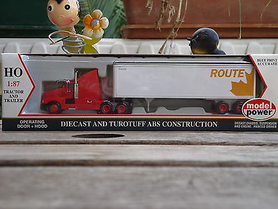 Model Power HO 17011 Die-cast truck and Trailer CN  HO Scale