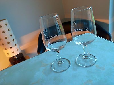 Pair Of Wine Taster Glasses -  Engraved With 'sancerre'