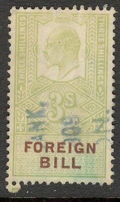 King Edward VII - 3s Green - Foreign Bill