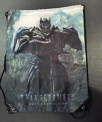 TRANSFORMERS: AGE OF EXTINCTION Promotional Rope Bag Backpack (Never Used)