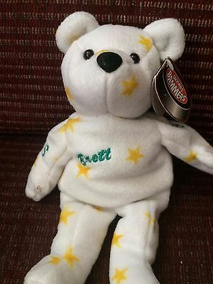 Brett Hull 16 Salvino's Bammers Bear good condition with tag