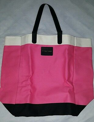 NEW VICTORIA'S SECRET Large Tote Bag Pink Black White Shopping Gym Travel 2015
