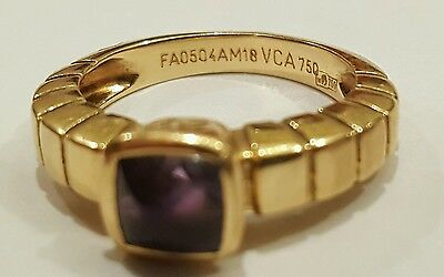 Van Cleef Arpels Ring. Very Rare, Vintage Gold, Amethyst. size 5-1/8  FA0504AM18