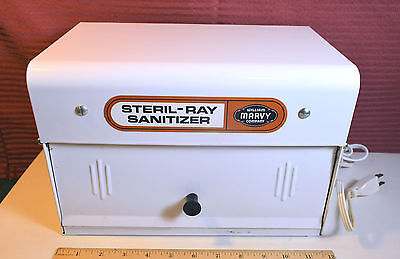 EARLY Barbershop Barber Shop Model #9 STERL-RAY Sanitizer William MARVY Co. SET1