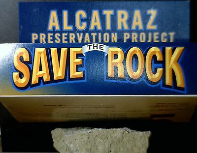 "ALCATRAZ "" Piece of The Rock "" GENUINE artifact from the Island in delux box NR"