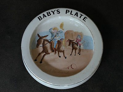 Vintage Carlton Ware Nursery bowl plate At the seaside Baby Bowl