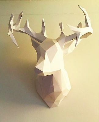 Paper deer head construction kit