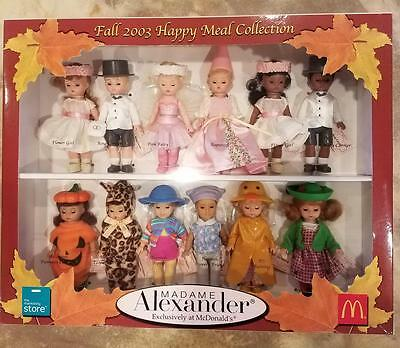 2003 Madame Alexander *McDonald's 2003 Happy Meal* 12 dolls Collection Perfect