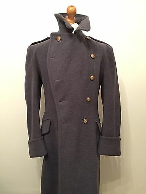 Vintage RAF Bespoke Officers Greatcoat Size 42 44 With Crombie Cloth