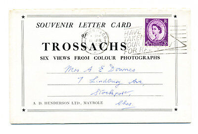 Vintage 1963 lettercard of Trossachs (6 views), Scotland
