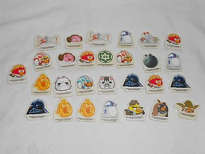 Eraser / Rubber Collection - 28 Star Wars / Angry Birds Erasers
