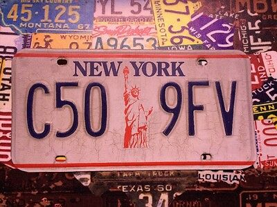 """Genuine New York """"Statue Of Liberty"""" American Licence Plate C50 9FV #1"""